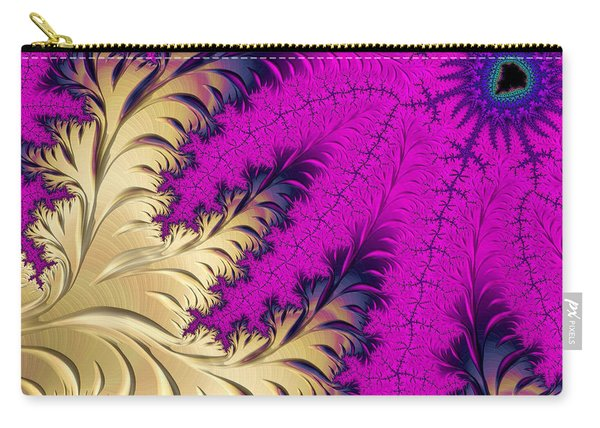 Golden Leaves On Flower Carry-all Pouch
