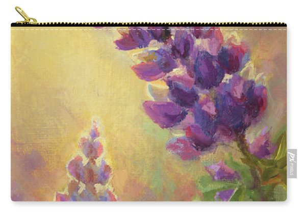 Golden Light 2 Wilsons Warbler And Lupine Carry-all Pouch