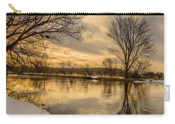 Carry-all Pouch featuring the photograph Golden Light by Garvin Hunter