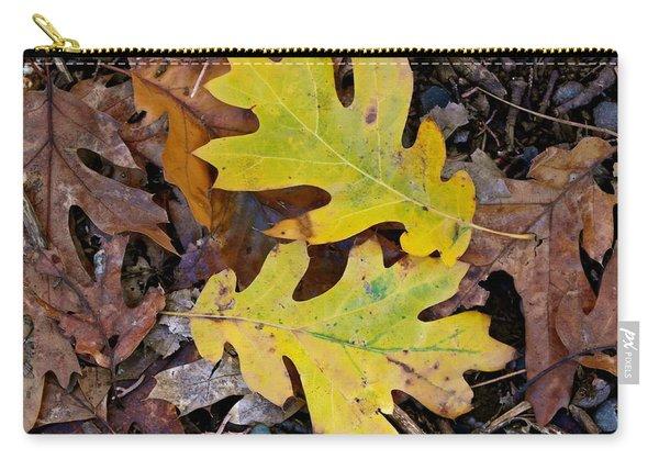 Golden Oak Leaf Duet Carry-all Pouch