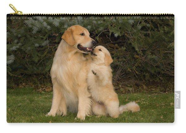 Golden Retriever Puppy Standing Carry-all Pouch