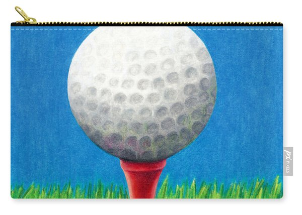 Golf Ball And Tee Carry-all Pouch