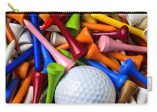 Golf Ball And Tees Carry-all Pouch