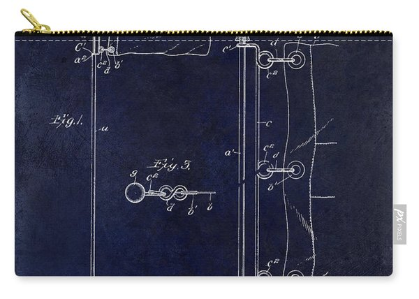 1913 Golf Flag Patent Blue Carry-all Pouch