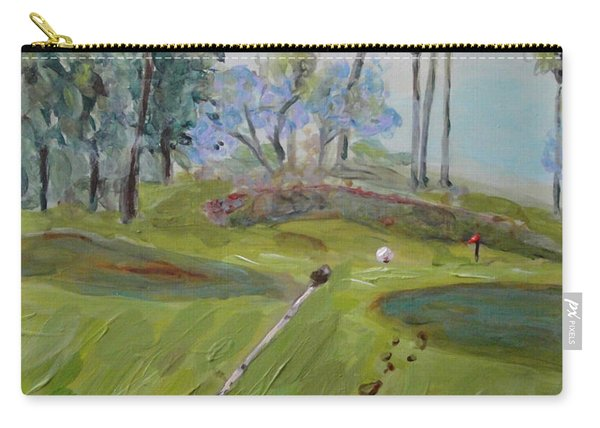 Golfing At Monarch Carry-all Pouch
