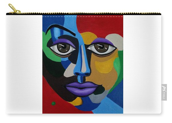 Abstract Face Art Abstract Painting Eye Art Carry-all Pouch