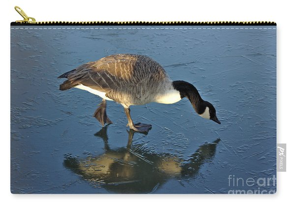 Goose On Ice Carry-all Pouch