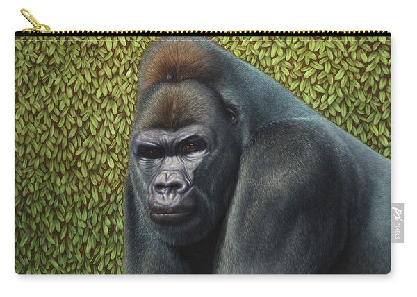Gorilla With A Hedge Carry-all Pouch