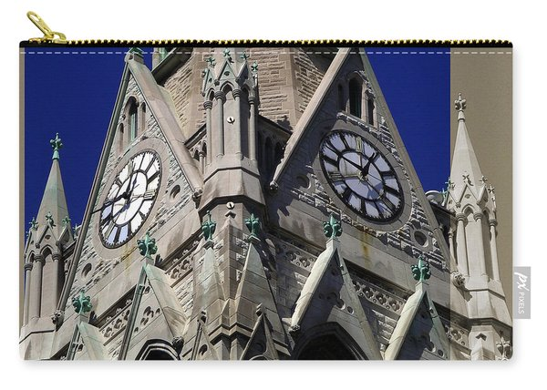 Gothic Church Clock Tower Spire Carry-all Pouch