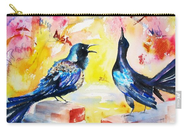 Grackles And Graffiti  Carry-all Pouch