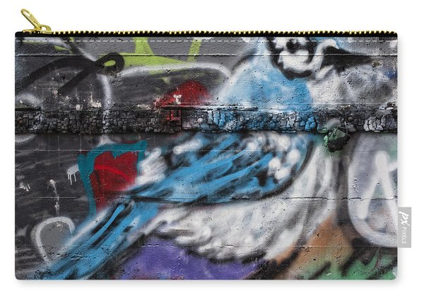 Graffiti Bluejay Carry-all Pouch