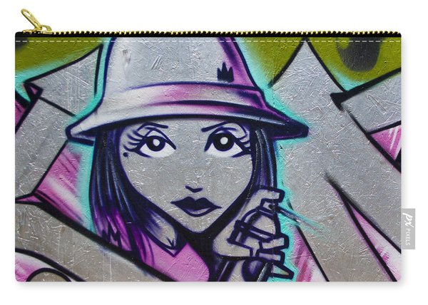 Graffiti Detail Carry-all Pouch