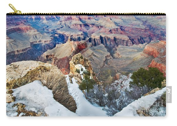 Carry-all Pouch featuring the photograph Grand Canyon In February by Mae Wertz