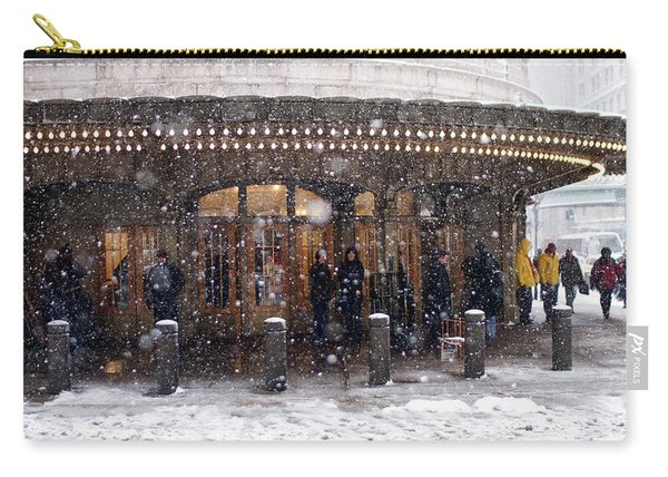 Grand Central Terminal Snow Color Carry-all Pouch