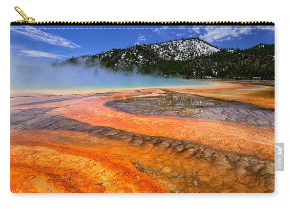Grand Prismatic Spring Boardwalk View Carry-all Pouch