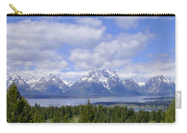 Grand Tetons Over Jackson Lake Panorama 2 Carry-all Pouch