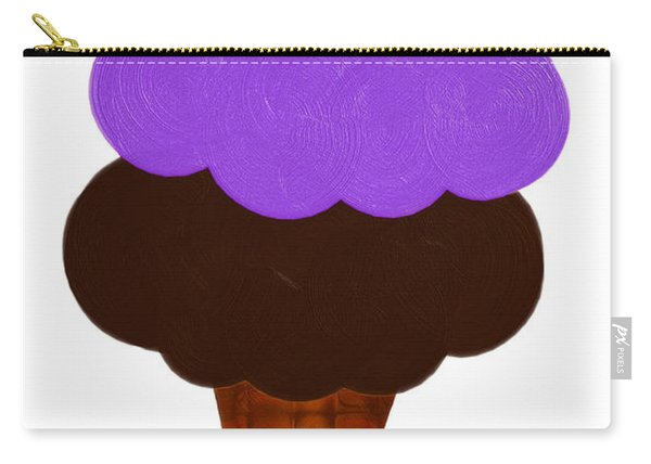 Grape And Chocolate Ice Cream Carry-all Pouch