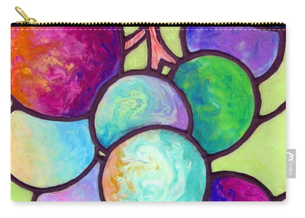 Carry-all Pouch featuring the painting Grape De Chine by Sandi Whetzel