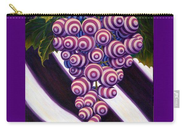 Carry-all Pouch featuring the painting Grape De Menthe by Sandi Whetzel