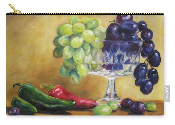 Grapes And Jalapenos Carry-all Pouch