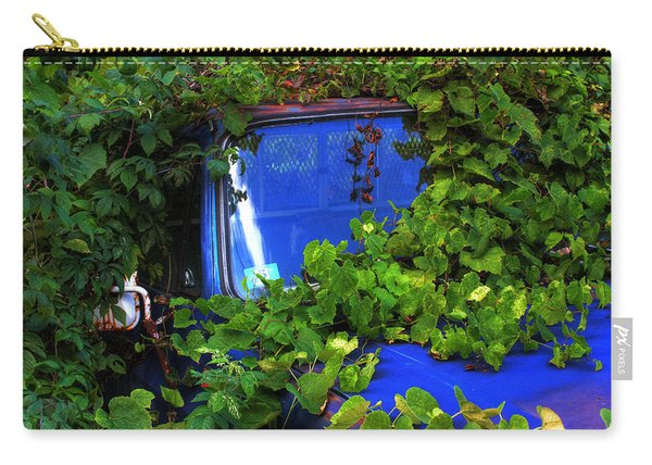 Carry-all Pouch featuring the photograph Grapes Eat Truck by Wayne King