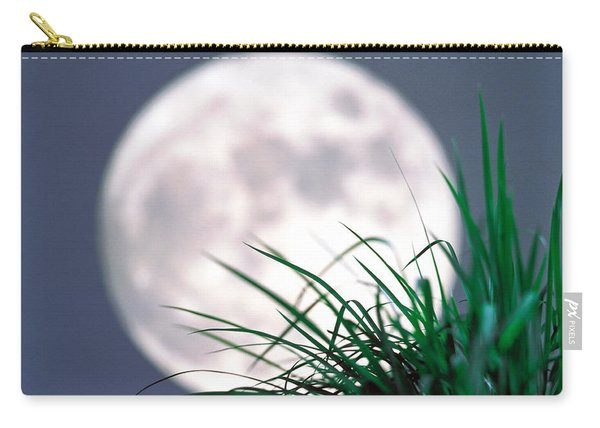 Grass Blades With Full Moon Carry-all Pouch