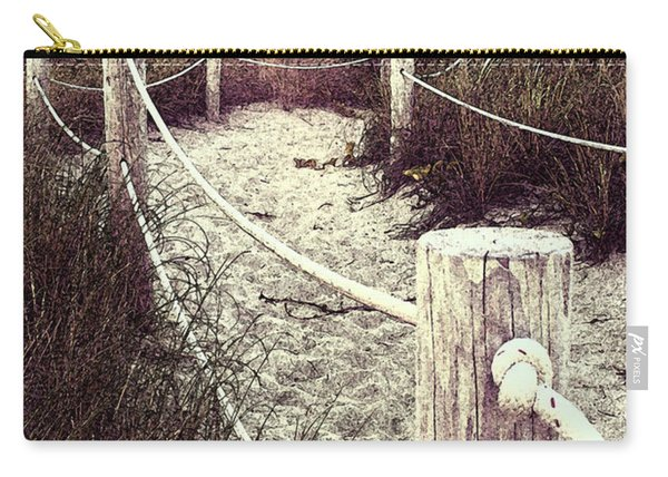 Grassy Beach Post Entrance At Sunset Carry-all Pouch
