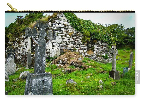 Graveyard And Church Ruins On Ireland's Mizen Peninsula Carry-all Pouch