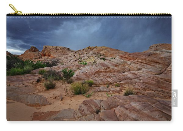 Gray And Red In The Valley Of Fire Carry-all Pouch