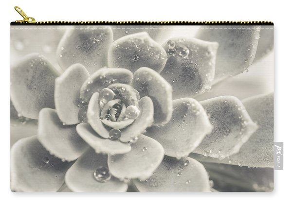 Gray Succulent Carry-all Pouch