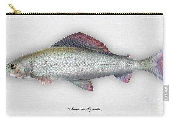 Grayling - Thymallus Thymallus - Ombre Commun - Harjus - Flyfishing - Trout Waters - Trout Creek Carry-all Pouch