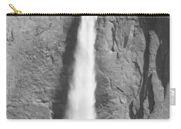 Grayscale Of Bridal Veil Falls Carry-all Pouch