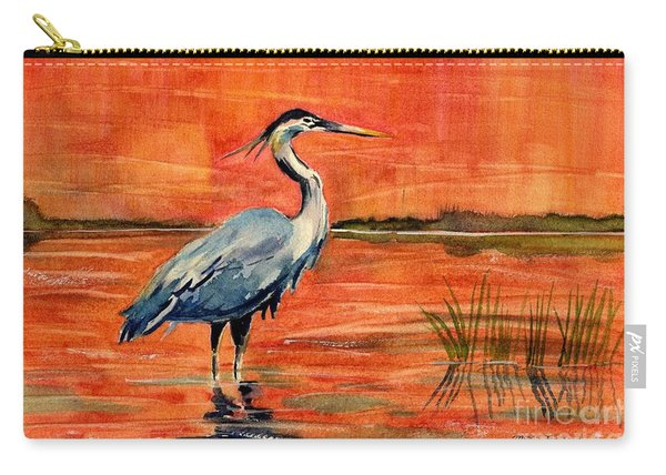Great Blue Heron In Marsh Carry-all Pouch
