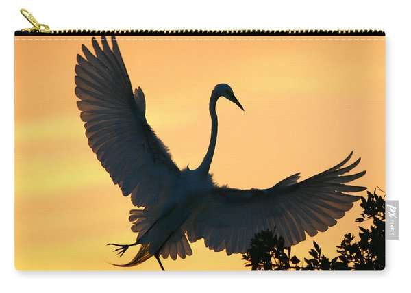 Great Egret Sunset Ballet Carry-all Pouch