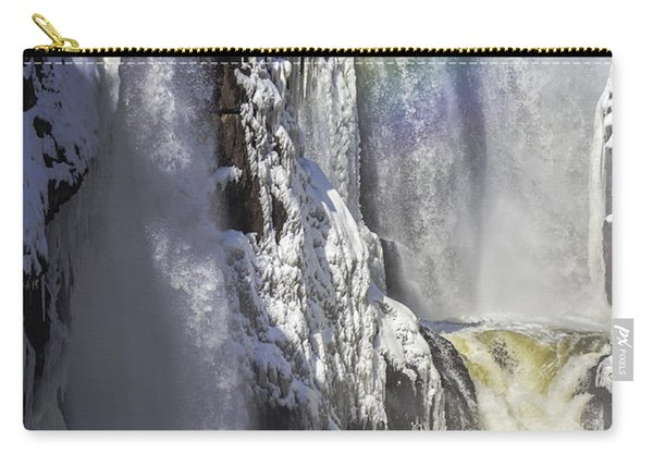 Great Falls And A Rainbow Carry-all Pouch