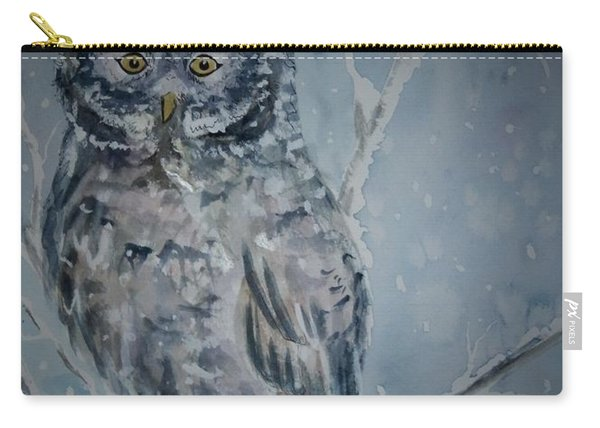 Great Gray Owl Dark Of Night Carry-all Pouch