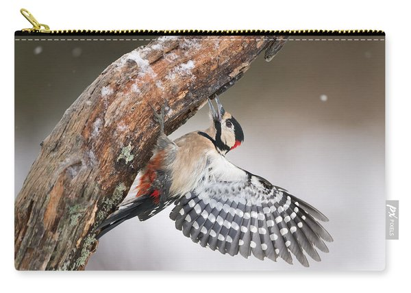 Great Spotted Woodpecker Male Sweden Carry-all Pouch