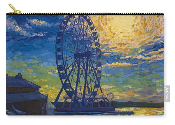Great Wheel Sunset Carry-all Pouch