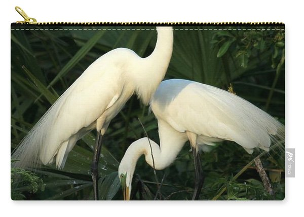 Great White Egret Mates Carry-all Pouch