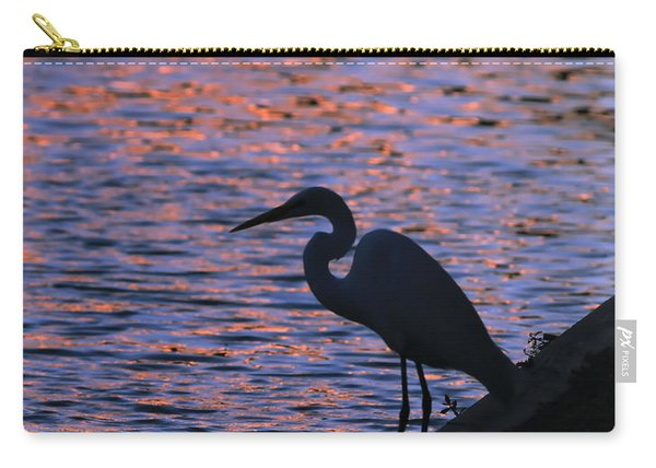 Great White Egret Silhouette  Carry-all Pouch