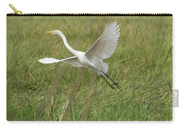 Great White Heron Ardea Alba Taking Carry-all Pouch