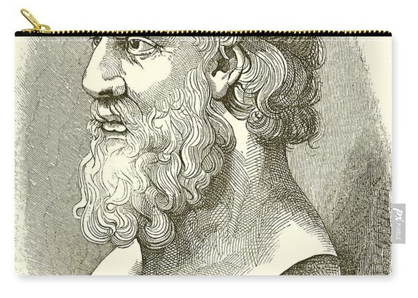 Greek Bust Of Plato Carry-all Pouch