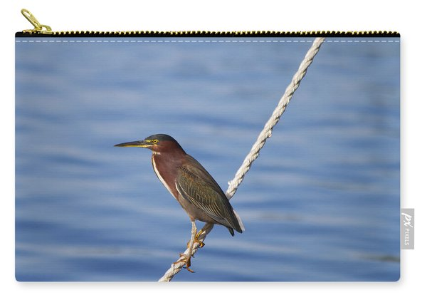 Green Back Heron Carry-all Pouch