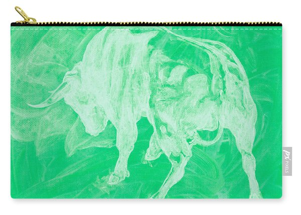Green Bull Negative Carry-all Pouch