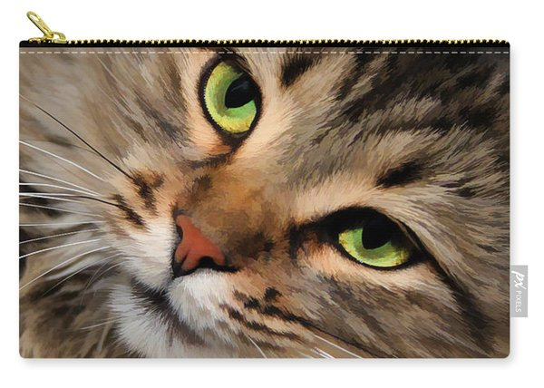 Green Eyed Girl Carry-all Pouch