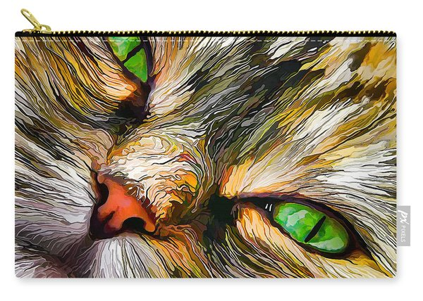 Green-eyed Tortie Carry-all Pouch