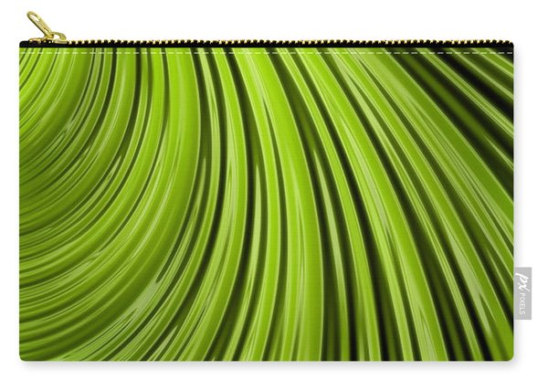 Green Flow Abstract Carry-all Pouch