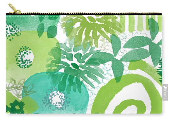 Green Garden- Abstract Watercolor Painting Carry-all Pouch