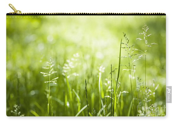 Green Grass Flowering Carry-all Pouch