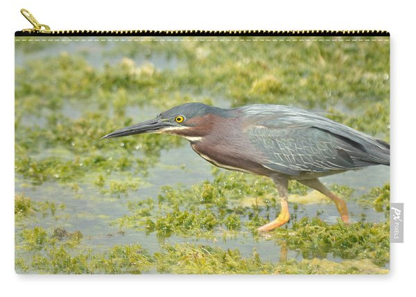 Green Heron On The Hunt Carry-all Pouch